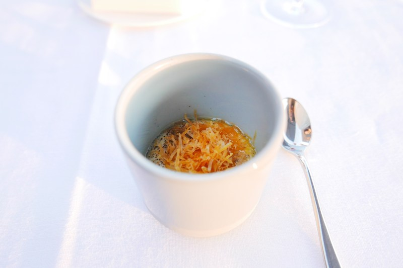 Cream of potato, coffee, Mimolette cheese
