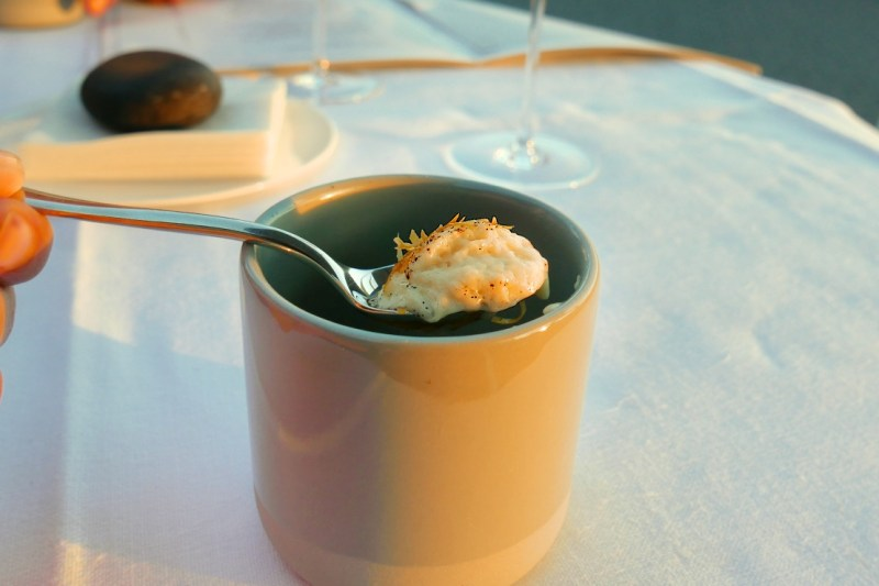 Cream of potato, coffee, Mimolette cheese
