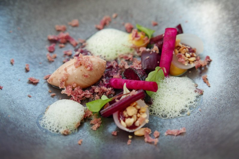 Chicken Liver, cherry, red beetroot