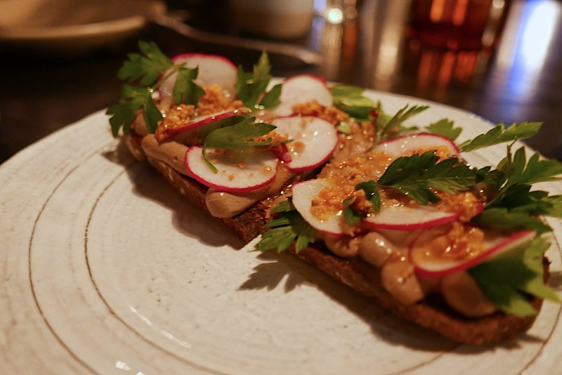 Chicken Liver Mousse, Sourdough Toast, Radish
