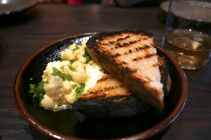 Aged Cheddar Rillettes, Truffle, Cauliflower, Toast