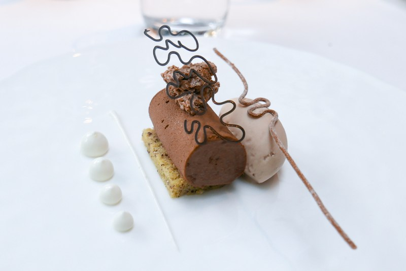Araguani Chocolate Marquise with Brioche & Earl Grey Ice Cream