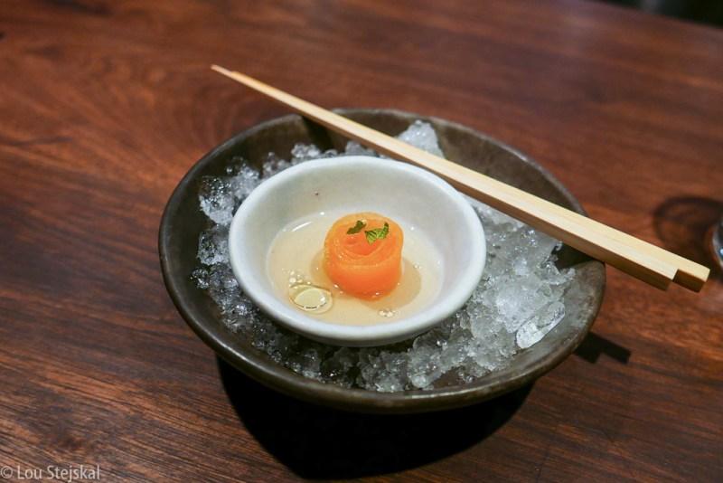 Pickled Melon, Plum Vinegar, Honey, Mint, Shiso Salt