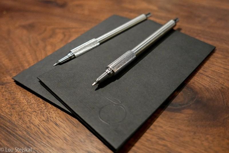 Bill and pens at Momofuku Ko