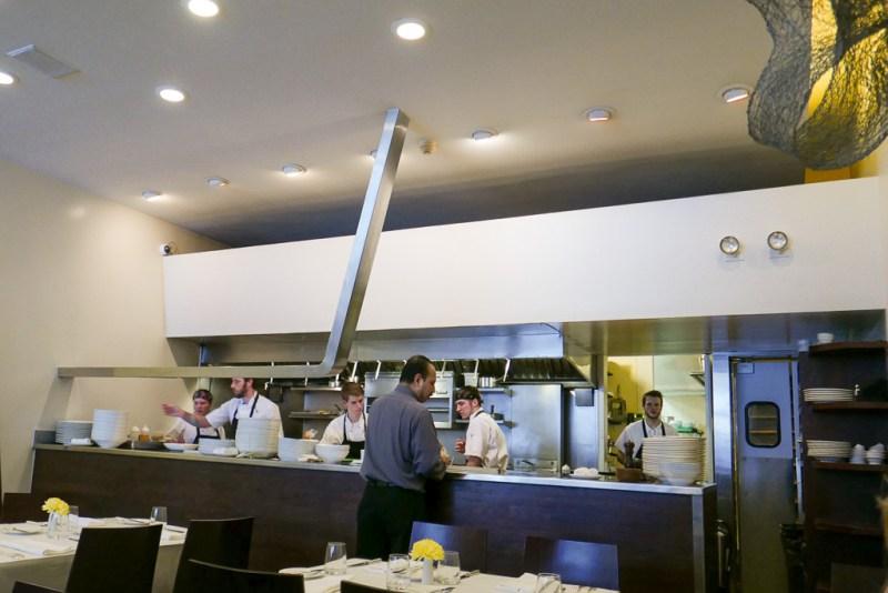 Open kitchen at Blackbird