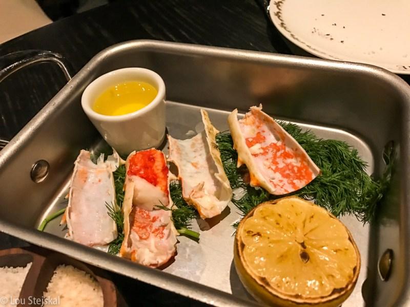 ½ Lb Merus King Crab. Warm butter,lemon ($42)