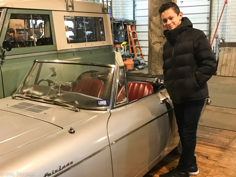 Vintage convertible Datsun Fairlady