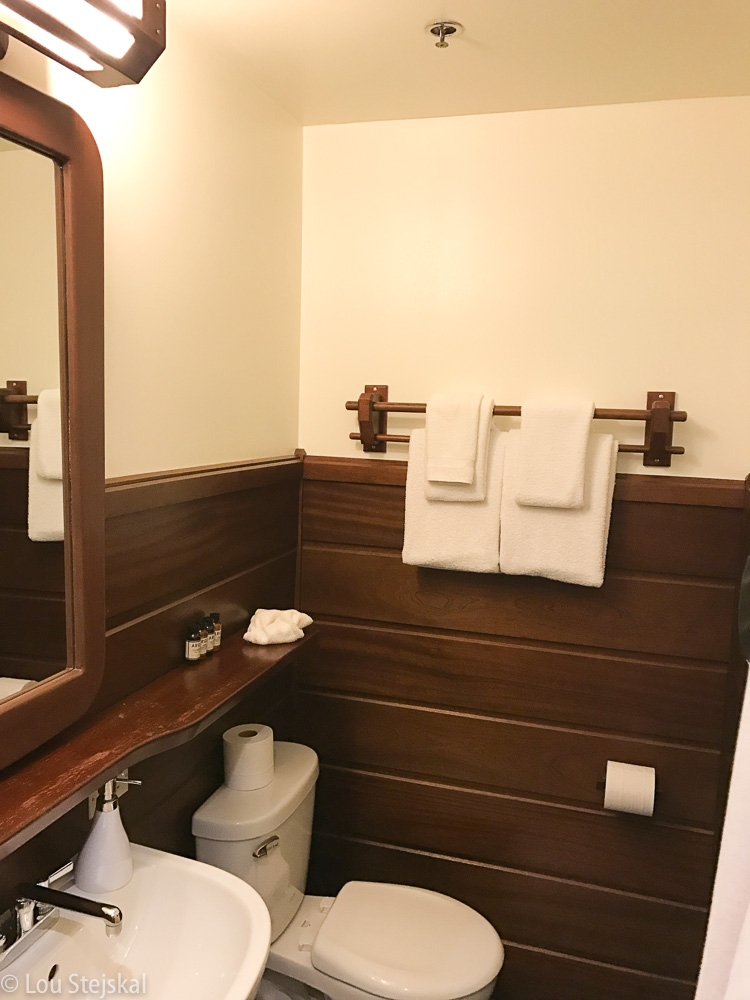Bathroom at Freehand Chicago. Small but clean.