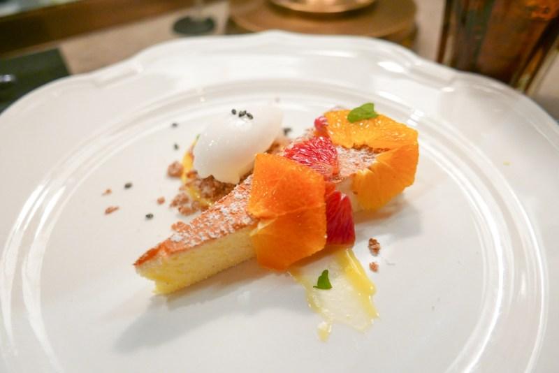 Cotton Cheesecake with Citrus, Shiso, Aloe Sorbet [Nico]