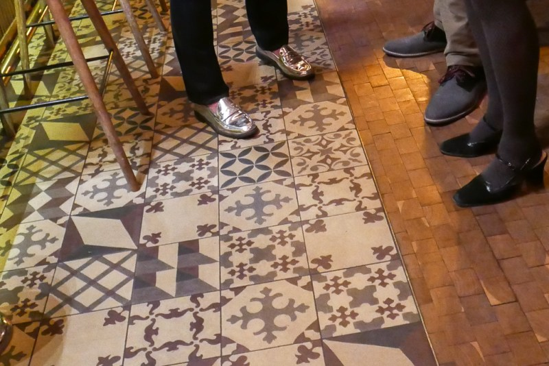 Shoes and tile