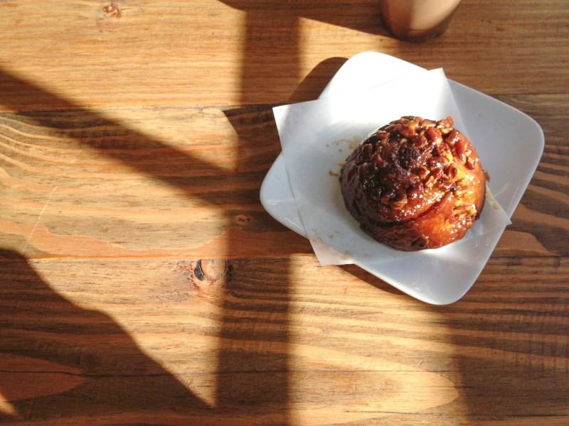Salted caramel pecan babka roll ($3.50)