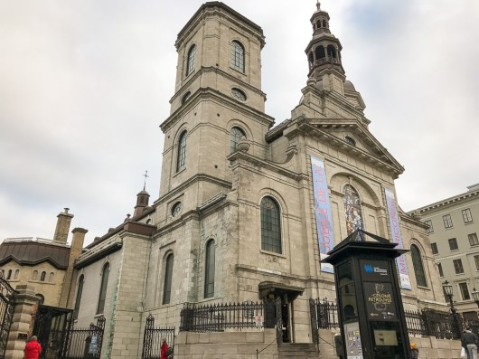 Basilique-Cathérale Notre-Dame de Québec to walk through the Holy Door which is now sealed until 2025.