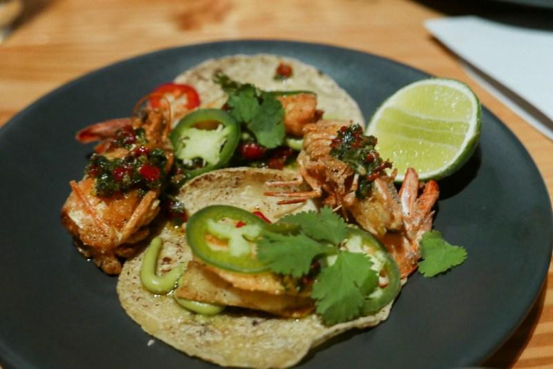 Mexicali Shrimp, Mojo de Ajo, Sun-dreid Tomato, Jalapeno ($11)
