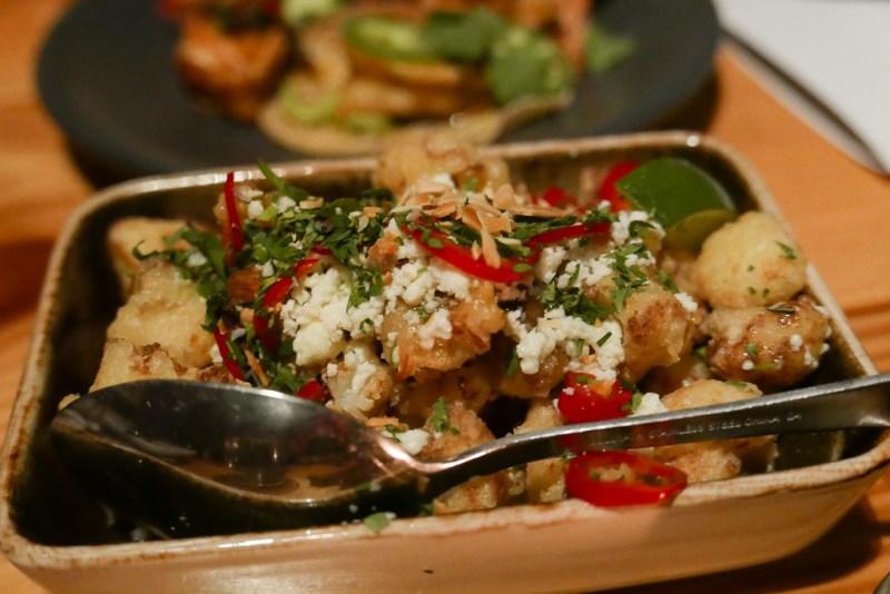Cauliflower, Tomatillo, Fresno, Almond ($11)