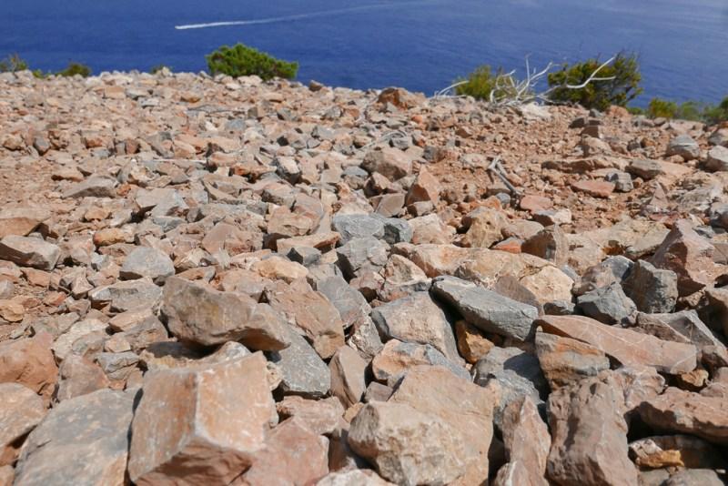 Craggy rock