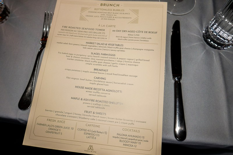 Maple & Ash brunch menu (Jun 25, 2017)