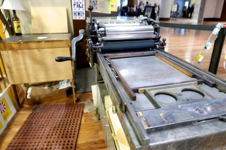 Printing press at Hatch Show Print