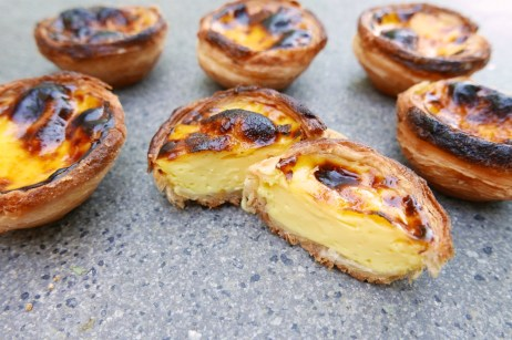 Silky, smooth Pastel de Nata Portuguese Custard Egg Tart. Very nice custard flavor throughout with beautifully done textures in both the custard and the pastry.