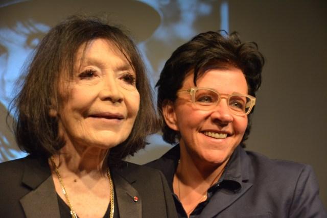 Monique Giroux et son amie Juliette Gréco, aux Francofolies de Montréal en 2015 - Crédit : Nathalie Simon-Clerc