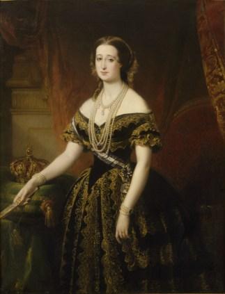 DUBUFE, Portrait de l_Impératrice Eugénie, 1854, huile sur toile, 138 X 98 cm,Château de Versailles