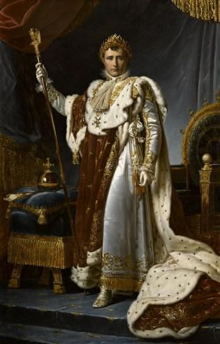 GÉRARD, Napoléon Ier en costume de sacre, 1805, huile sur toile, 223 X 143 cm, Château de Versailles