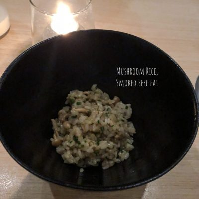 Kato: Simply Simple Elevated - Mushroom Rice, Smoked Beef Fat