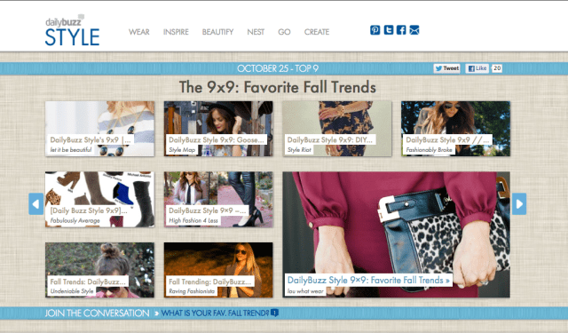 DailyBuzz Style 9x9: Fall Trends