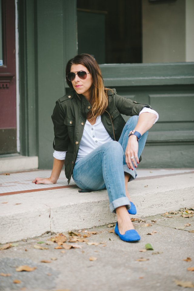 Blue Loafers * Fall Style
