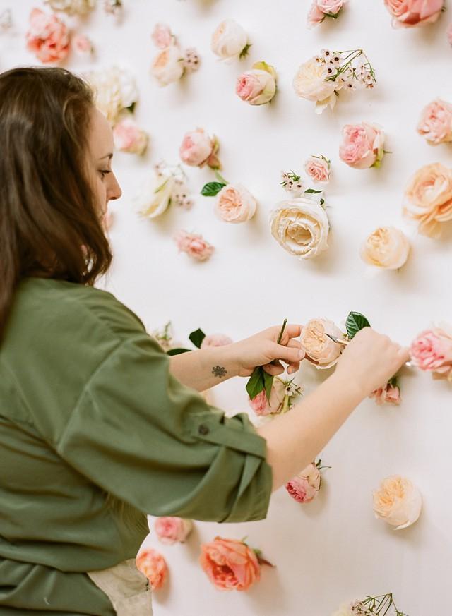 Diy Fresh Flower Wall Backdrop Wedding Galery