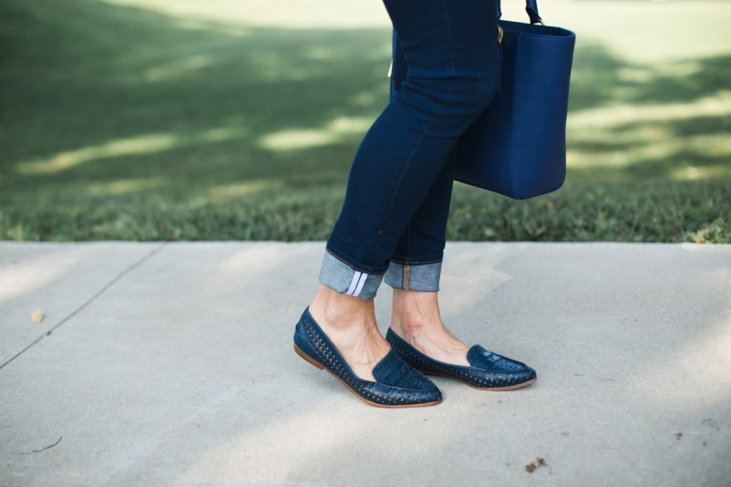 Navy J.Crew Loafers