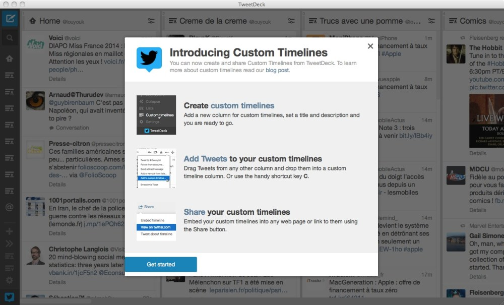 Tweetdeck et les Custom TL de Twitter (1/6)