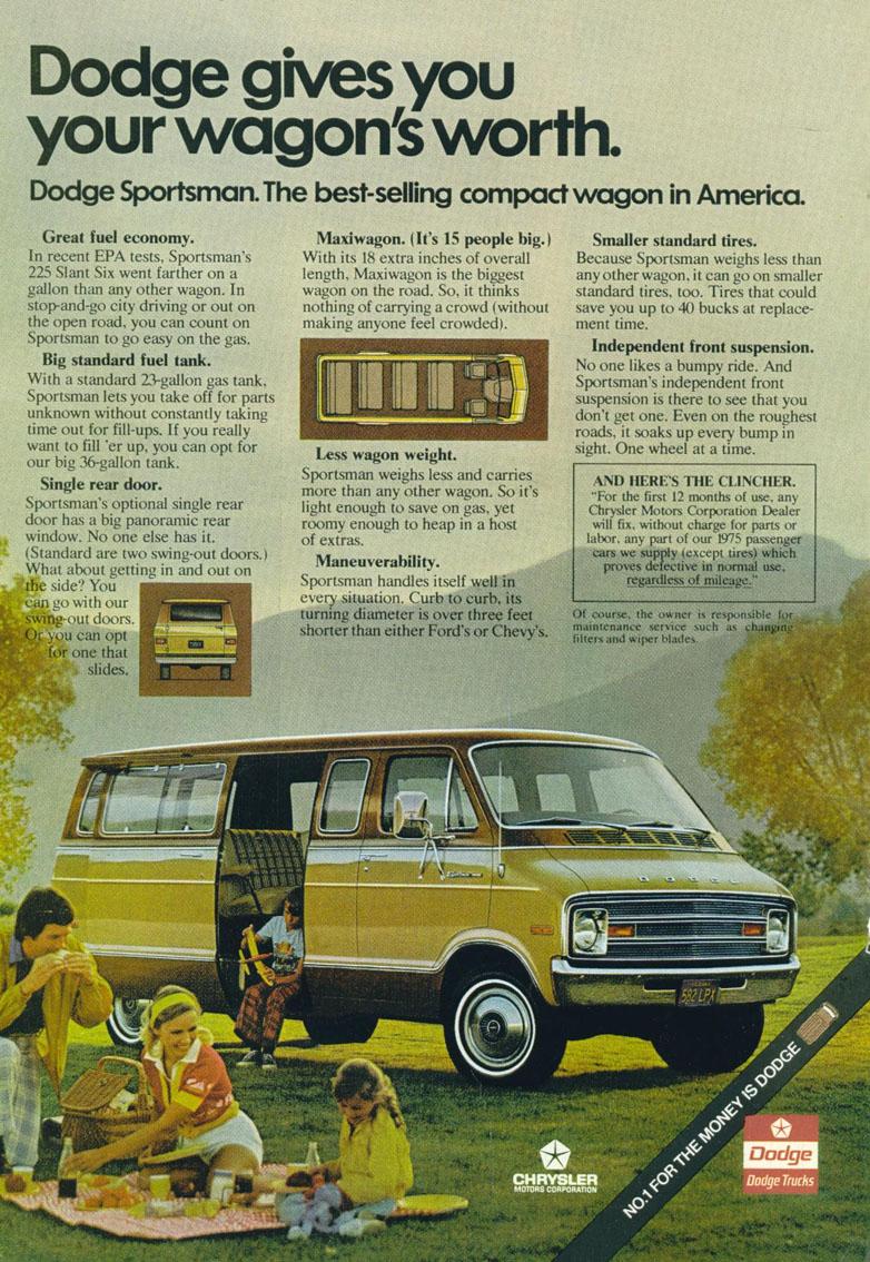 1975 Dodge Van : dodge, Brochures