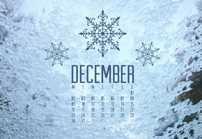 Printable: December Calendar Page