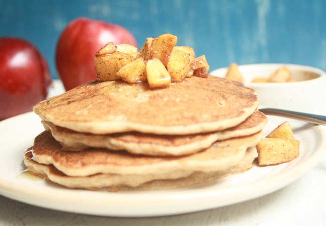 Apple pancakes on plate