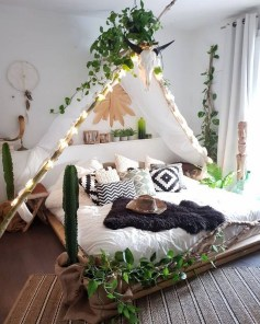 Adorable Bohemian Bedroom Decoration Ideas You Will Totally Love 29