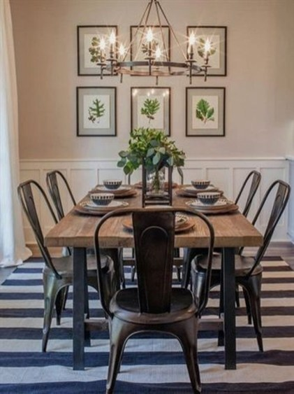 Rustic Farmhouse Dining Room Design Ideas 19