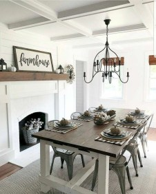 Rustic Farmhouse Dining Room Design Ideas 27