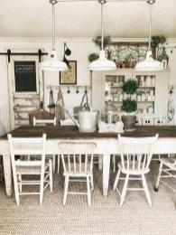 Rustic Farmhouse Dining Room Design Ideas 40
