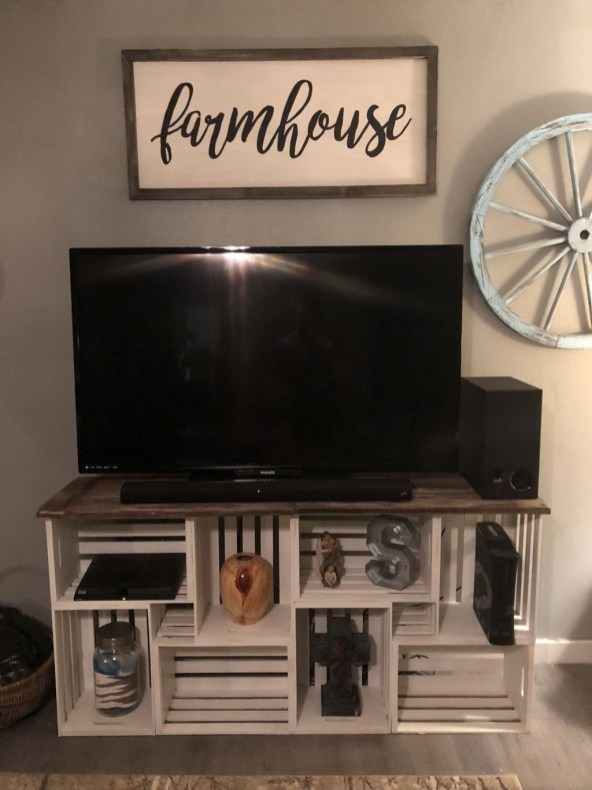 Amazing Wooden TV Stand Ideas You Can Build In A Weekend 35