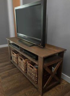 Amazing Wooden TV Stand Ideas You Can Build In A Weekend 46