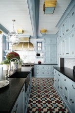 Cool Blue Kitchens Ideas For Inspiration 19