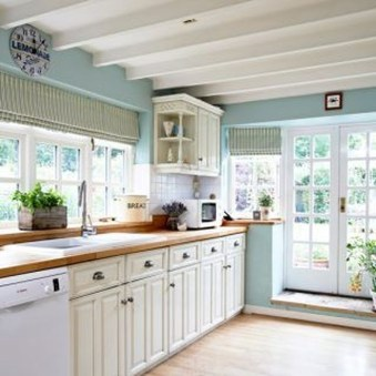 Cool Blue Kitchens Ideas For Inspiration 42