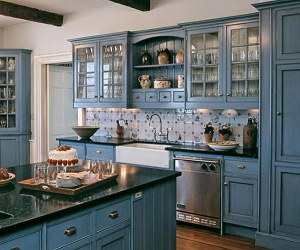 Cool Blue Kitchens Ideas For Inspiration 48