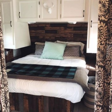 Cozy RV Bed Remodel Ideas On A Budget 21