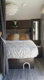 Cozy RV Bed Remodel Ideas On A Budget 29