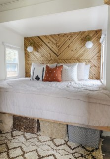 Cozy RV Bed Remodel Ideas On A Budget 32