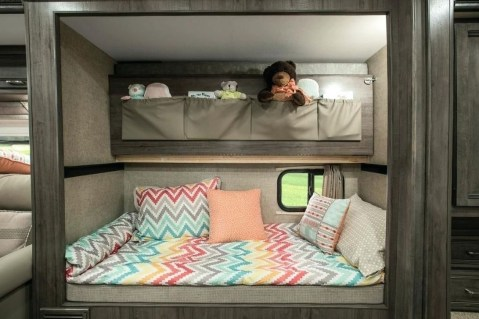 Cozy RV Bed Remodel Ideas On A Budget 38