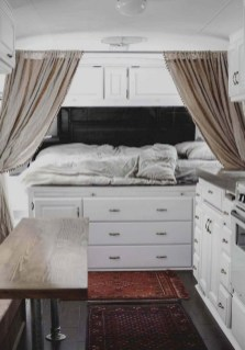 Cozy RV Bed Remodel Ideas On A Budget 39