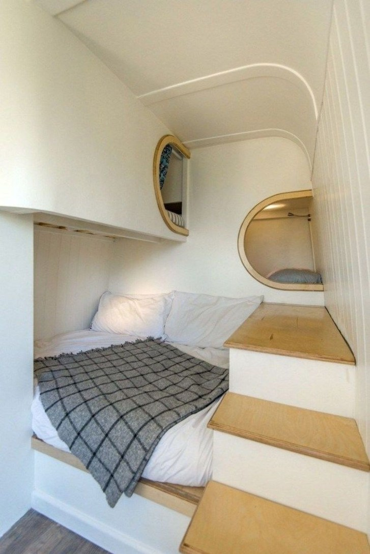 Cozy RV Bed Remodel Ideas On A Budget 47