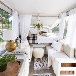 Cozy RV Bed Remodel Ideas On A Budget 49